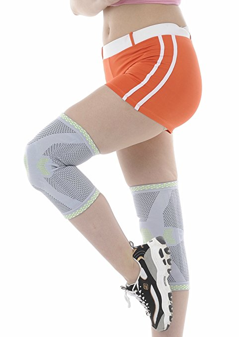Cel-Lab Knee Compression Sleeve (Sports Knee Protector) Large Pair