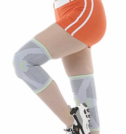 Cel-Lab Knee Compression Sleeve (Sports Knee Protector) LargePair